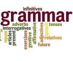 Grammar for English speaking