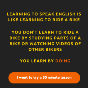 Learning English is like learning to bike